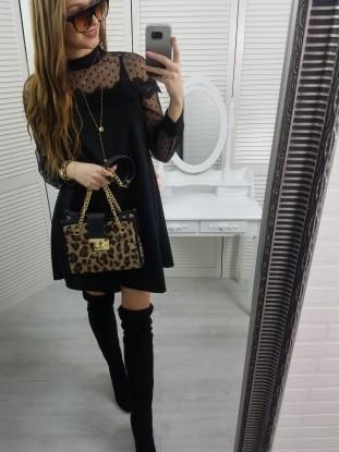 Sukienka panterka czarna