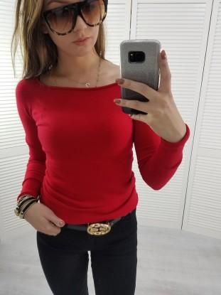 Sweterek delikatny czerwony łodka