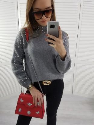 Sweter pearl grey