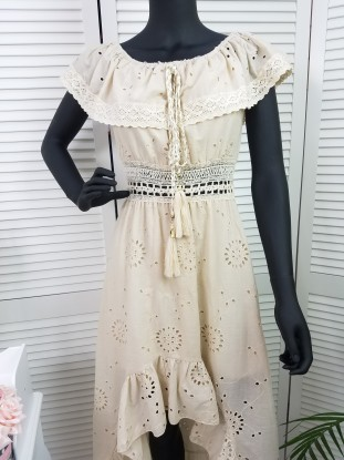 Sukienka DŁUGA BEZOWA MARGARITA
